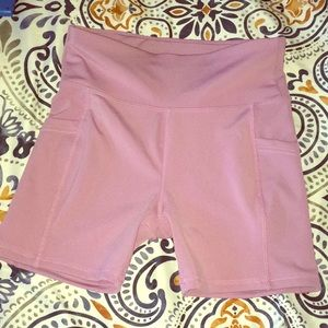 Dusty rose work out shorts!